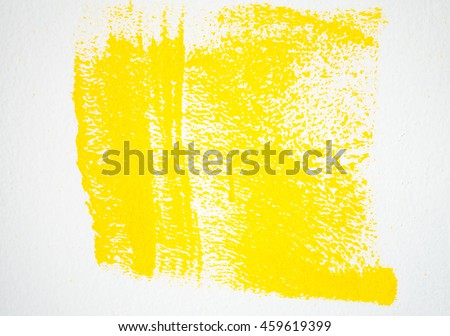 yellow paint on the white background