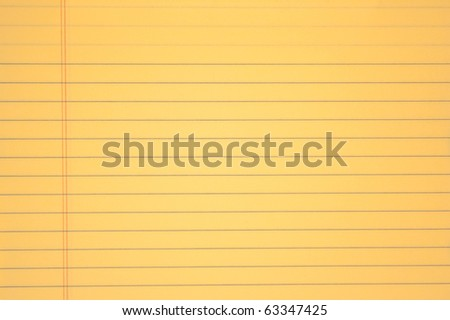 yellow paper - stock photo