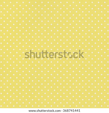 Yellow paper background with white pattern - stock photo