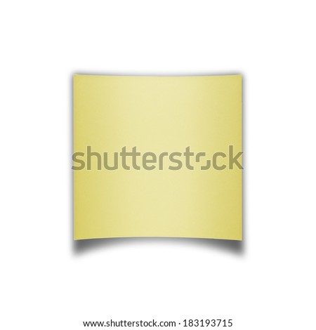 Yellow paper squares blank on white background.