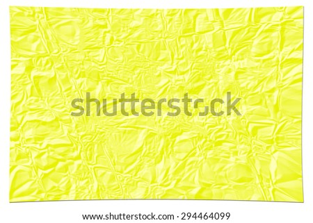 Yellow paper texture. crumpled paper - stock photo