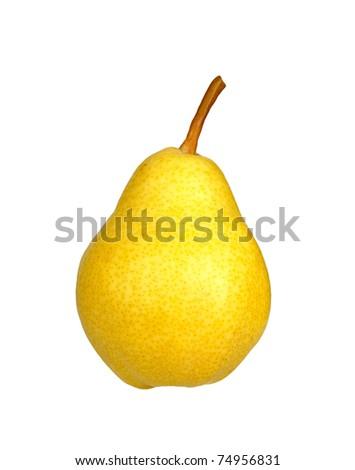 yellow pear - stock photo