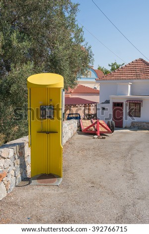 Yellow phone box
