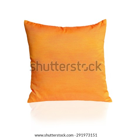 Yellow pillows isolated on white on white background. This has clipping path. - stock photo