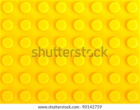 yellow plastic construction background - stock photo