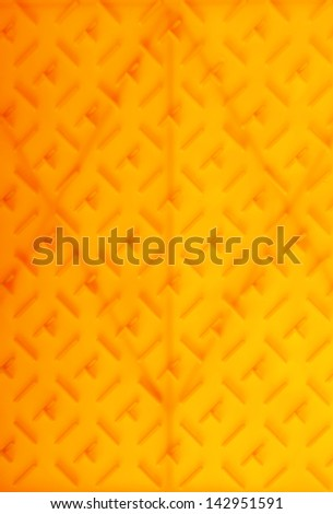yellow plastic construction background texture pattern - stock photo