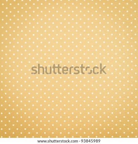 Yellow polka dot background - stock photo