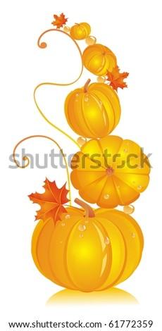 yellow pumpkin - stock photo