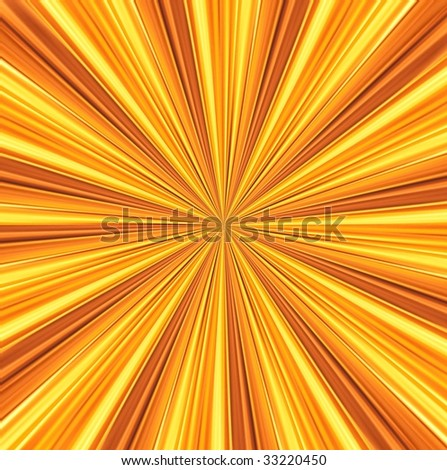 yellow rays converge toward the center. abstract background - stock photo