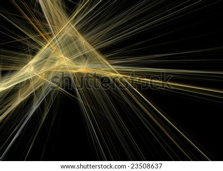 Yellow rays on black background