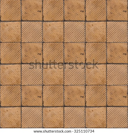 Yellow Ribbed Tile On Floor Wall Stock Photo Safe To Use 325110734