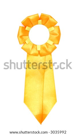 yellow ribbon - stock photo