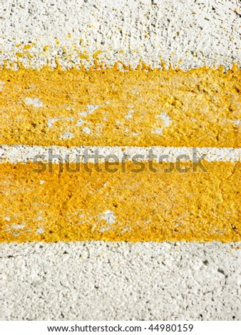 Yellow road marks - stock photo