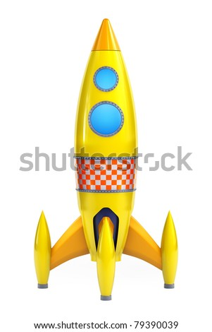Yellow rocket - stock photo