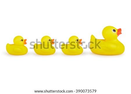 Yellow Rubber Ducks - stock photo