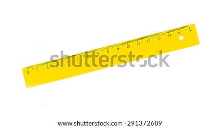 yellow rulers drawing isolated on a white background. - stock photo
