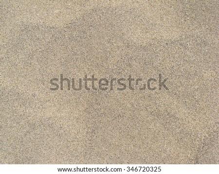 yellow sand of beach - stock photo