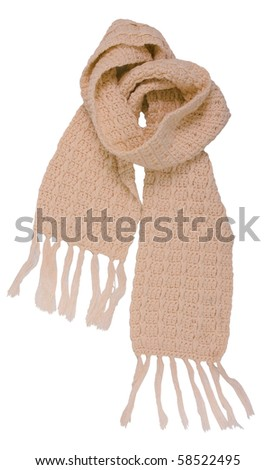 yellow scarf - stock photo