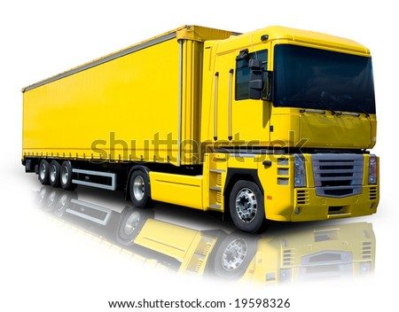 Yellow Semi - stock photo