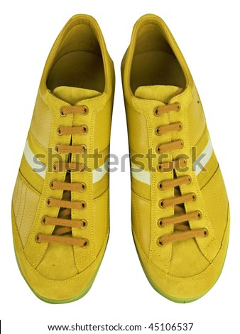 yellow shoes - stock photo