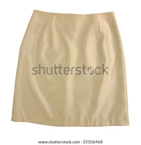 yellow silk skirt