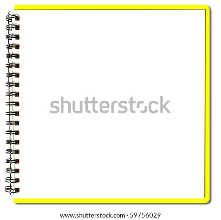yellow sketch book - stock photo