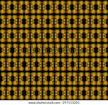 yellow skull use as pattern and wallpaper. - stock photo