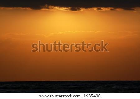 yellow sky - stock photo