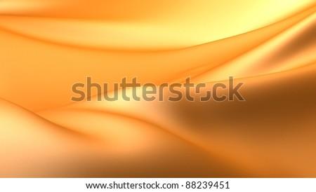 Yellow Smooth Cloth - stock photo