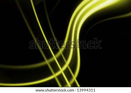 Yellow smooth lines on dark background