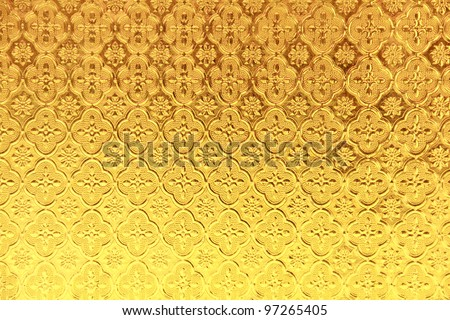 yellow stained glass background - stock photo