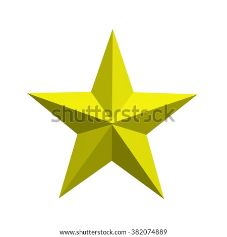 Yellow star on white background