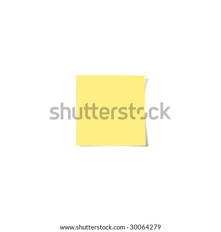 Yellow sticky note with shade template