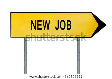 Yellow street concept new job sign - stock photo