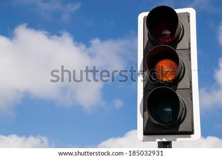 Yellow street light. - stock photo