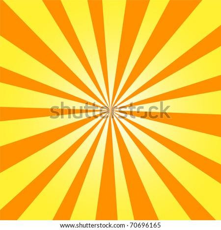 Vector Background Sun Rays White Orange Stock Vector 584281282 ...