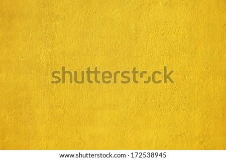 yellow stucco wall - stock photo