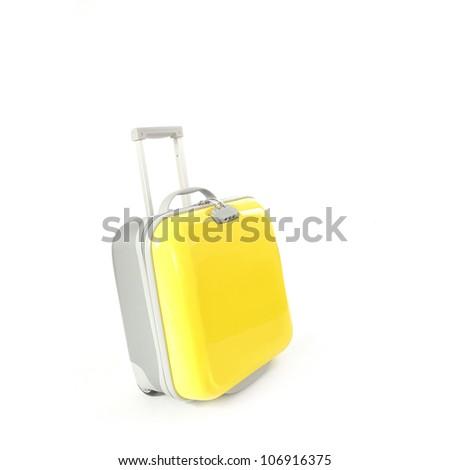 Yellow Suitcase - stock photo