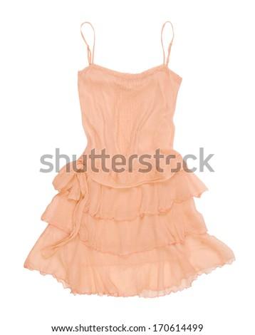 yellow sundress - stock photo