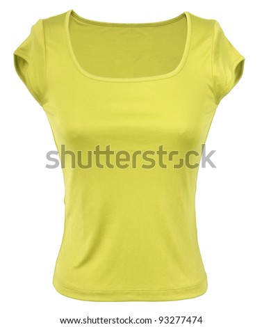 yellow t-shirt - stock photo