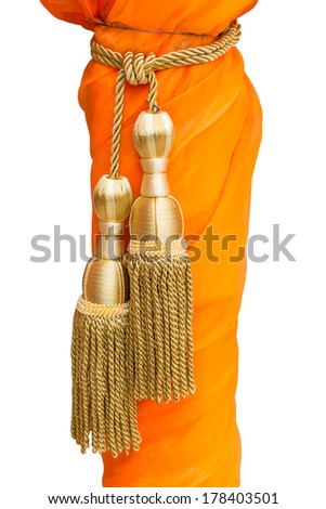 Yellow tassel isolated - stock photo