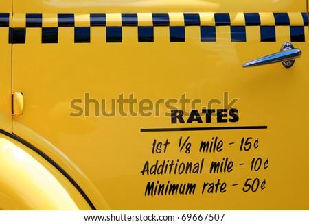 Yellow taxi - stock photo