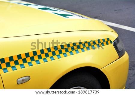 Yellow taxi cab in Melbourne, Australia. - stock photo