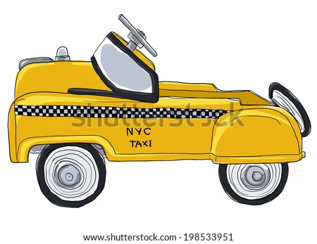 Yellow taxi new york city vintage toys