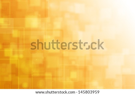 Yellow tech abstract background. - stock photo