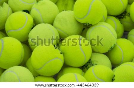 yellow tennis ball - stock photo