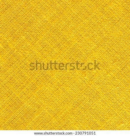 Yellow Textile Background Square/Yellow Textile Background - stock photo
