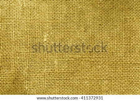 Yellow textile sack texture. Background and texture for design. - stock photo