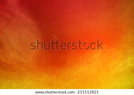 yellow to orange  gradient color with grunge cloudscape abstract background - stock photo