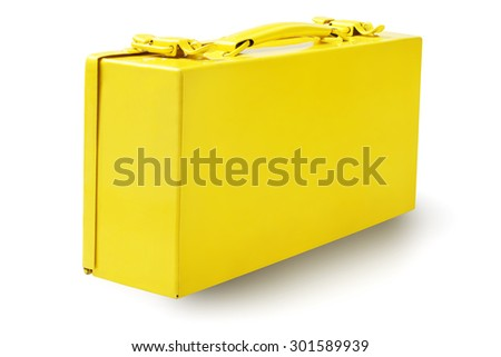 Yellow Tool Box on White Background